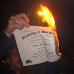 Burning a college degree